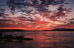 Tofino sunset. Photo by Allison Gamble. Used by permission.