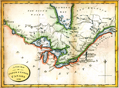 New Map Upper and Lower Canada - 1798